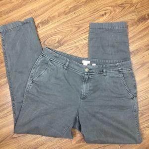 J. Crew Factory Gray Cotton Chino Pants